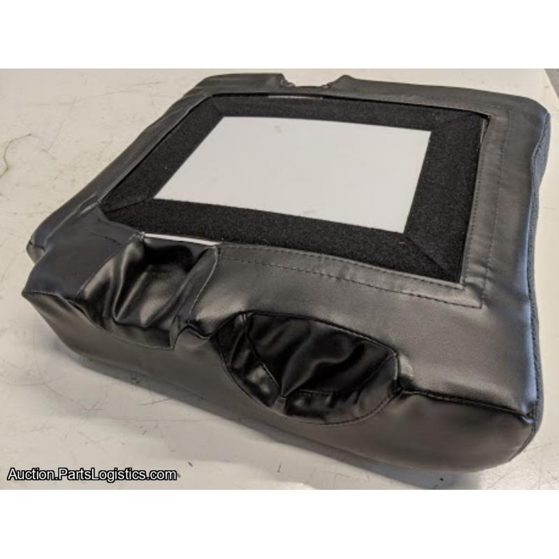 PN: PBM-58-101, Bell 206 Black Cloth with Leather Trim Pilot Seat Bottom, New, ID: D11