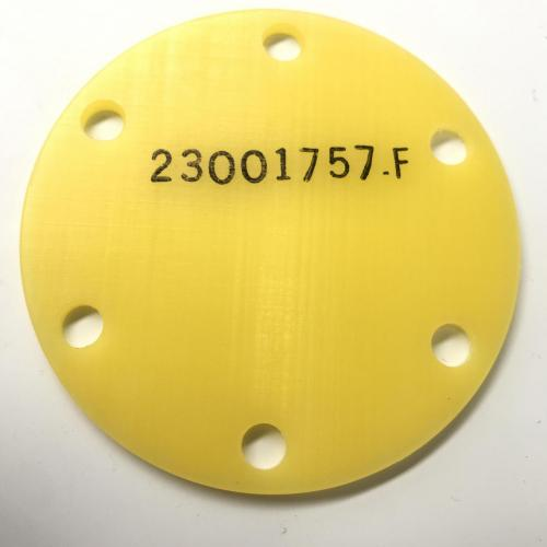 New OEM Approved RR M250, PTO Pad Shipping Cover, P/N: 23001757, ID: CSM