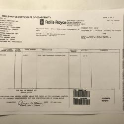 New OEM Approved RR M250, Seal Compressor Ring, P/N: 6898657, ID: CSM