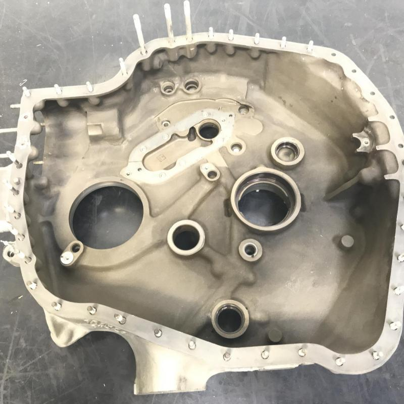 P/N: 23008021, Gearbox Power & Accessory Housing, S/N: XX35282, As Removed, RR M250, ID: AZA