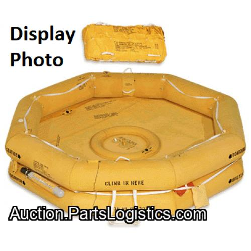 P/N: R0297A111, LIFE RAFT, TWIN TUBE,12 MAN, EAM-T12, Used,  Manufacturer, ID: D11